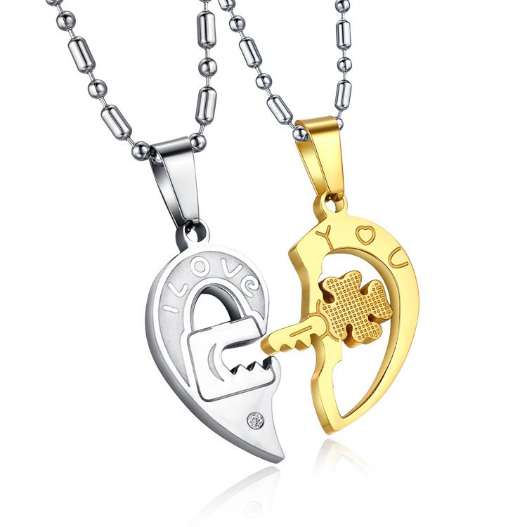 Collage Heart lovers Necklace