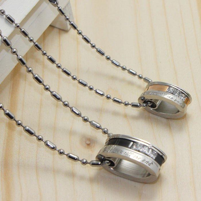 Diamond Band Ring Pendant Necklace