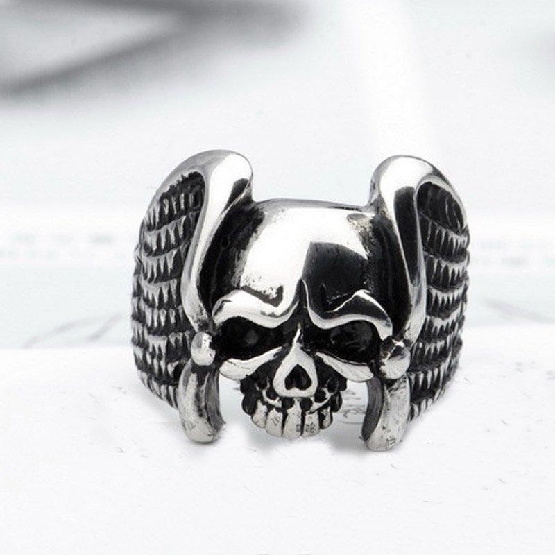 Vintage Skull & Bones Ring For Men