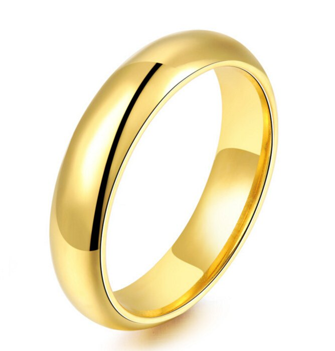 High Polished Gold Rings