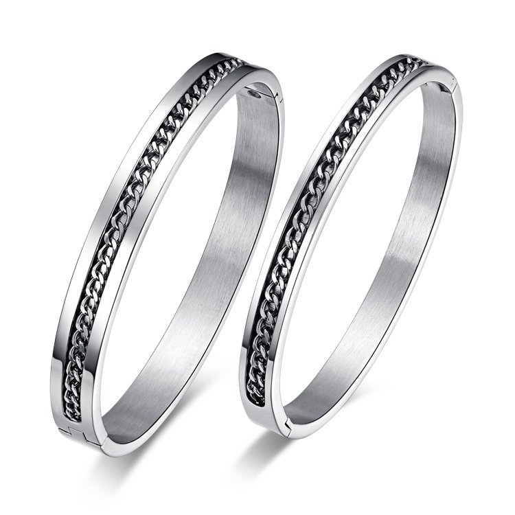 Chain Split Couple Bangle