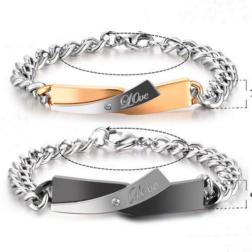 Fashion Couple Cross Style Bracelet