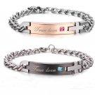Korean Stainless Steel Couples Bracelet