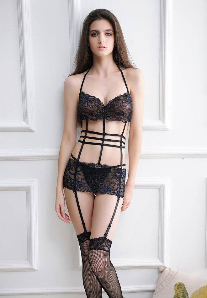 Woman Sexy Bandage Bra Set Underwear