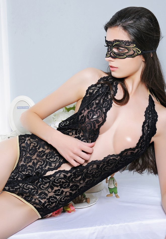 Deep V sexy low-cut lace And Sexy Lingerie
