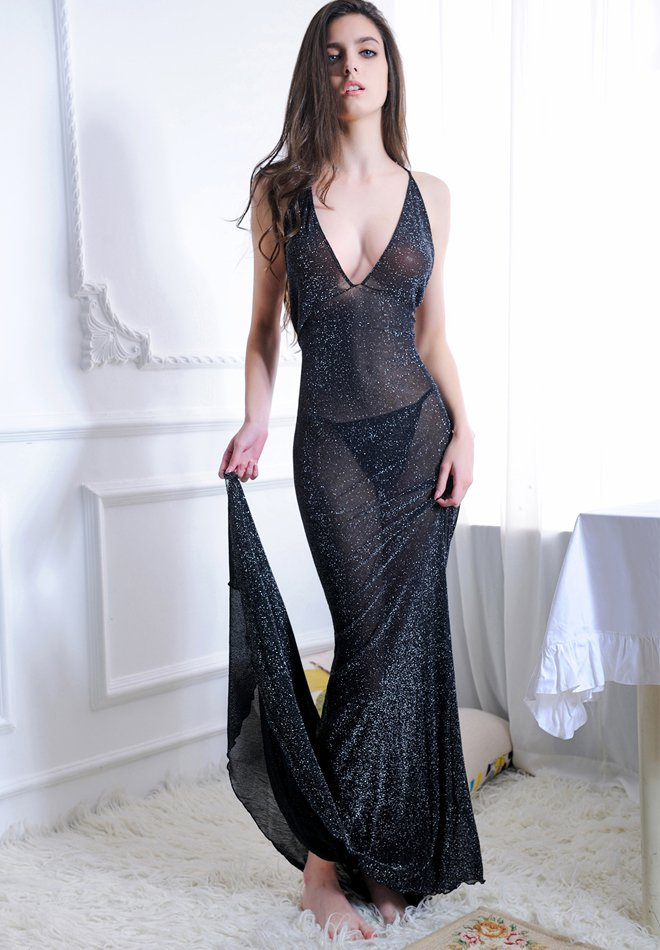 Half Perspective Sexy Tufted Long Skirt