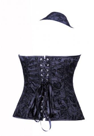 Black Floral Sparkle Corset