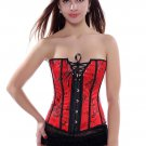 Red Laced Bust Overbust Corset Bustier