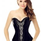 Women's Sweetheart Floral Lace Splicing Overbust Corset