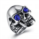 Punk skull ring wind