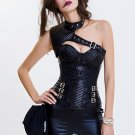 Faux Leather Bustier & Sexy Punk Corset Tippet