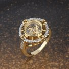 Gold Plated With Crystal Ring