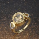 Gold Plated Heart Sides Ring