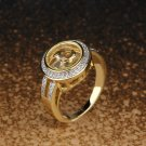 Round Gold Plated Halo Ring