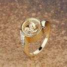 Gold Plated Windmill Crystal Ring
