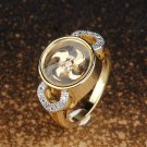 Indian Traditional Goldtone Stone Ring