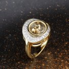 Gold Plated Crystal Ring