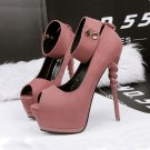 With high waterproof nightclub high-heeled shoes