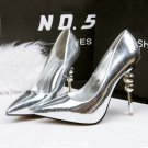 Metal mirror sexy high-heeled shoes