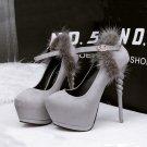 Round head rivet high heels