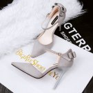Suede sweet bowknot heels