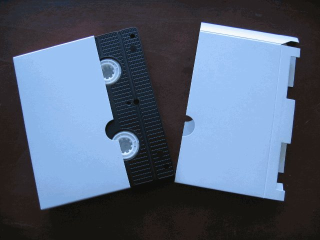 100 VHS Tape Cardboard Sleeves, White - JS85