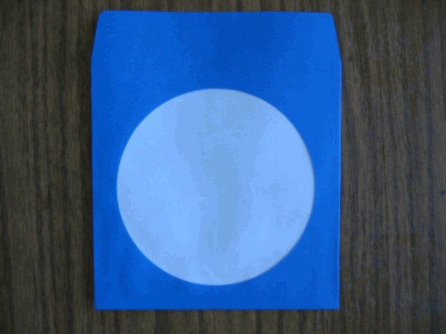 100 BLUE CD PAPER SLEEVES w/ WINDOW & FLAP - JS205