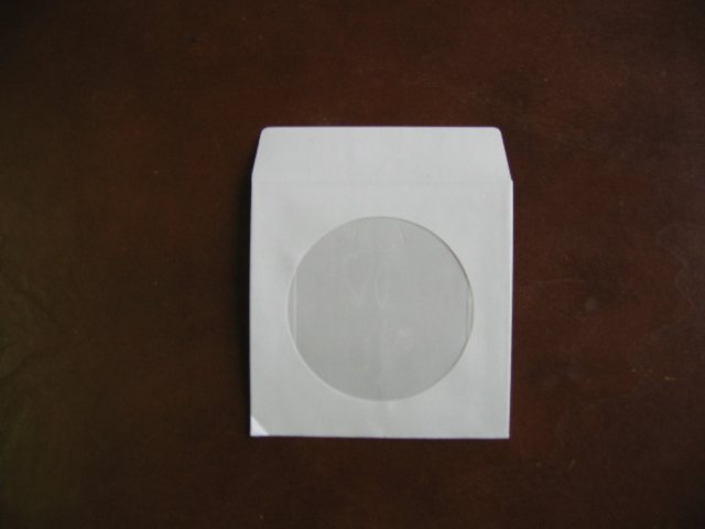 "100  3"" WHITE MINI CD-R PAPER SLEEVE ENVELOPE JS206"