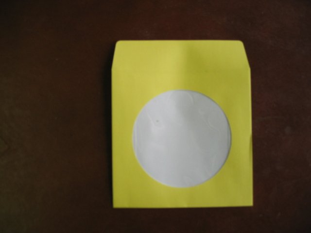 "100 3"" YELLOW MINI CD-R PAPER SLEEVE ENVELOPE JS210"