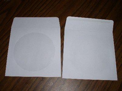 100 CD PAPER SLEEVES W/WINDOW & GUMMED FLAP JS212