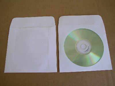 200 CD / DVD PAPER SLEEVES WITH WINDOW AND FLAP - PSP10