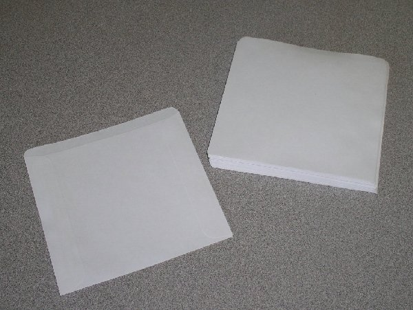 500 CD / DVD PAPER SLEEVES NO WINDOW, NO FLAP - PSP30
