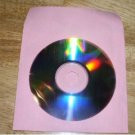 100 PINK CD PAPER SLEEVES w/ WINDOW & FLAP - PSP50