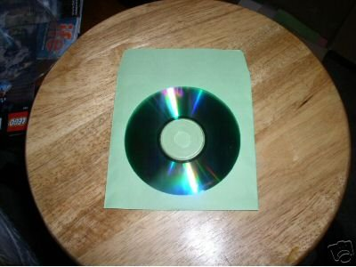 100 GREEN CD PAPER SLEEVES w/ WINDOW & FLAP - PSP60