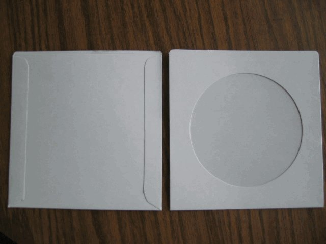 CARDBOARD CD SLEEVES W/ WINDOW - SF10