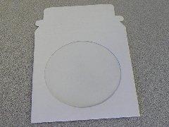 100 PCS CD DVD CARDBOARD MAILERS W/ WINDOW - JS91