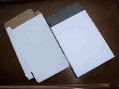 100 WHITE CORRUGATED BOXES - JS51