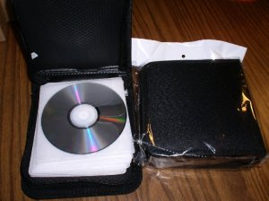 5 CD WALLETS, EACH HOLDS 48 DISCS - JS71