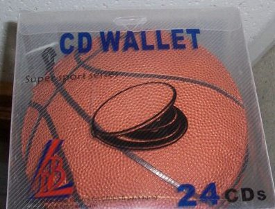 5 SPORTS CD CASE WALLETS - HOLDS 24 CDS each - BASKETBALL