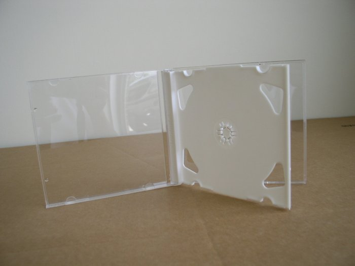 50 DOUBLE CD JEWEL CASES W/ WHITE TRAYS - 2CDWHT