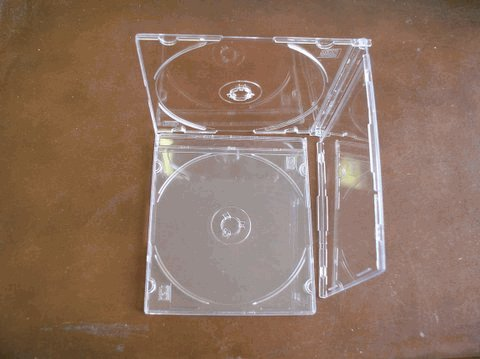 100 SLIM CD CASES W/SUPER CLEAR TRAY - PSC16SUPERCLEAR