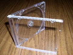 100 NEW SINGLE JEWEL CASES W/ CLEAR TRAY - KC04PK