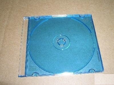100 5.2mm SLIM JEWEL CASES W/ BLUE TRAY- PSC16BLU