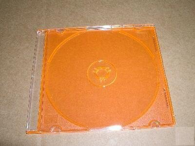 100 5.2mm SLIM CD JEWEL CASE W/ ORANGE TRAY- PSC16ORG