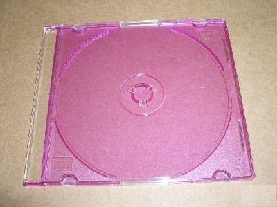100 5.2mm SLIM CD JEWEL CASE W/ PURPLE TRAY- PSC16PUR