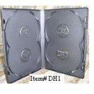 25 OVERLAP QUAD DVD CASES - DH1 - Each Case Holds 4 Discs!