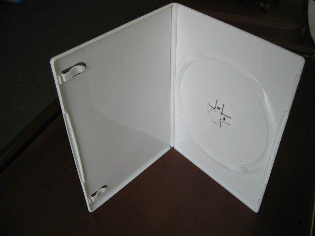 50 NEW SLIM 7MM SINGLE DVD CASES, WHITE PSD16