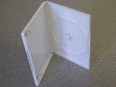 50 NEW WHITE SINGLE DVD / CD CASES - PSD20