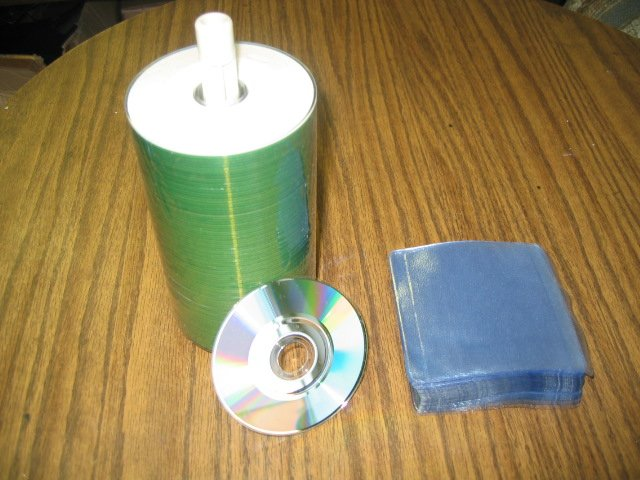100 PRODISC MINI CDRs, WHITE INKJET PRINTABLE, 32X W/SLEEVES - 22R32SWIH100B/JS28
