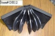 25 TWELVE 12 DVD DISC CASE, BLACK - DH12